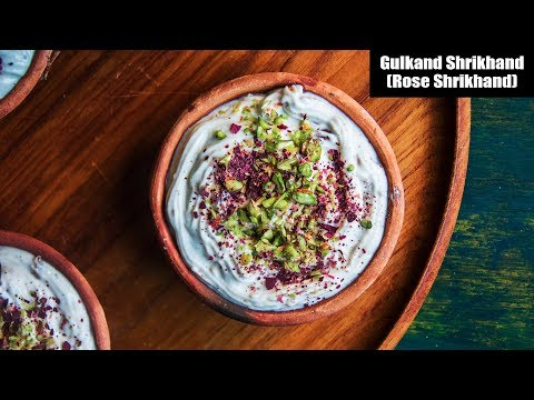 Gulkand Shrikhand | How To Make Rose Srikhand | Holi Recipe Video | Indian Sweet