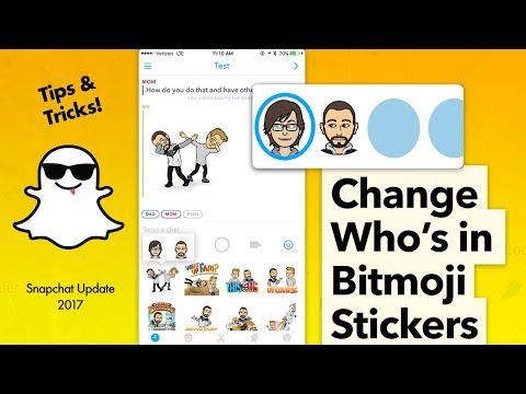Switch who's in Your Bitmoji Stickers - Snapchat