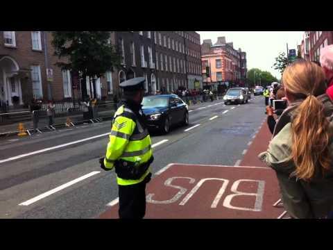 President Obama cavalcade in Dublin