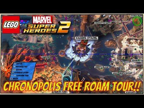 LEGO Marvel Super Heroes 2 - A Free Roam Tour of Chronopolis: All 18 Locations