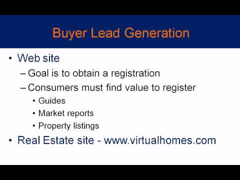 Real Estate Lead Generation - How to Obtain Buyers Online