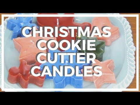 Christmas Cookie Cutter Candles ♥ 12 DIYs of Christmas