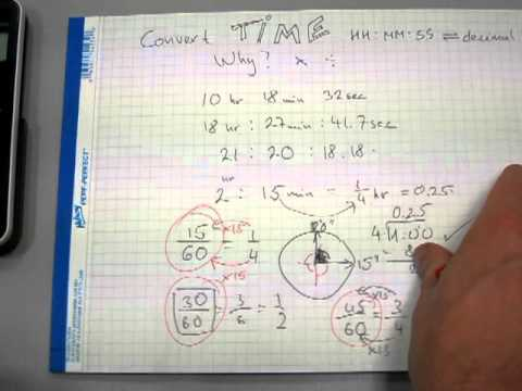 Convert time from hh:mm:ss to decimal hours