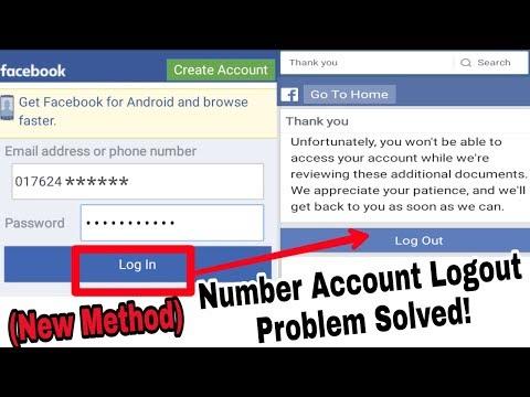 Facebook Logout Number Accounts Problem Solved | Open Unfortunately Facebook Number Accounts 2018