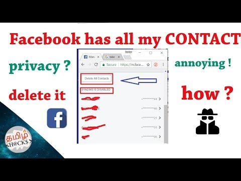 fb has all my contact list || how to delete it permanently ? || privacy ? || annoying !