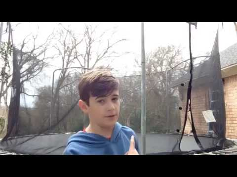 How to do a standing backflip on a trampoline
