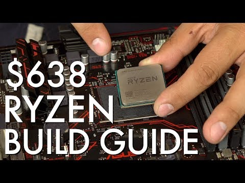 $638 Ryzen 4K Video Editing PC - Step by Step Build Guide