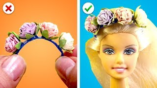 14 Fun Barbie Hacks! And More Toy DIY Ideas