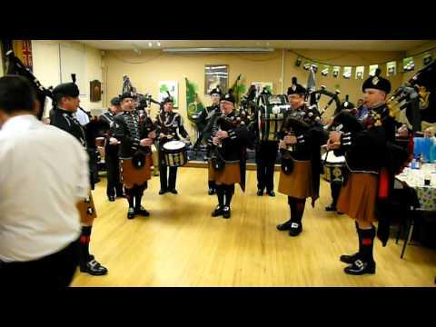 Royal Irish Band,  St Patrick's Day, North Down (RUR) Branch Royal Irish Rangers Association