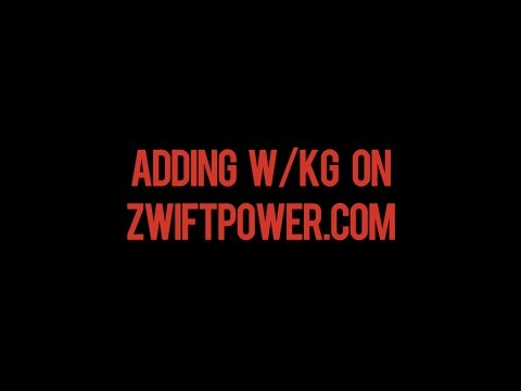 Adding W/KG (your team name) in zwiftpower.com