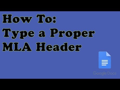 How to Type a Proper MLA Header on Google Docs