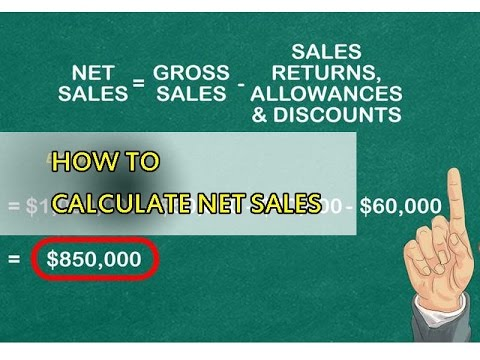 Guide how to calculate net sales