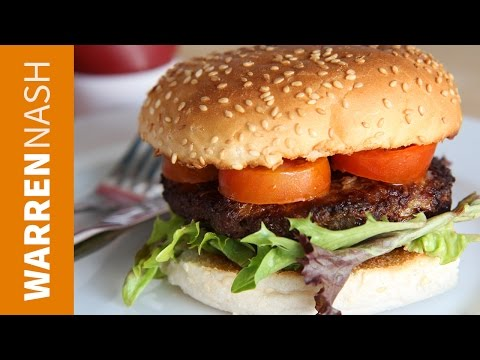 Beef Burger Recipe - Homemade with Ground Beef - Recipes by Warren Nash