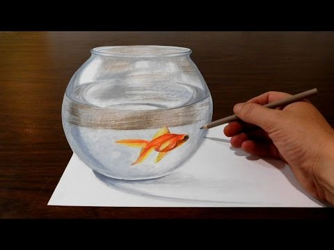 Drawing a Goldfish Bowl - Optical Illusion Trick Art