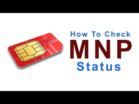 How to check MNP status by sms