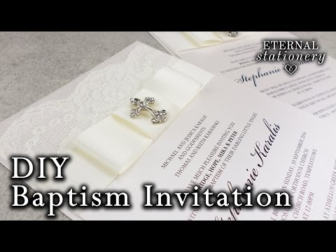 Easy Christening/Baptism invitation | Elegant DIY Invitations
