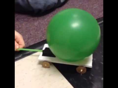 Ballon powered car testing