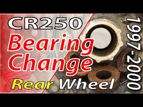 How To Replace Your Rear Wheel Bearings - 97-01 Honda CR250 | FYDB