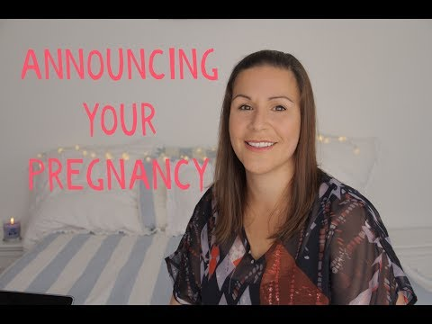 ANNOUNCING YOUR PREGNANCY