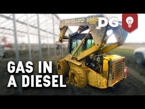New Holland Skid-Steer Drowning In Gasoline