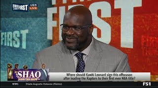 FIRST THINGS FIRST   Shaq RESPOND: Where should Kawhi sign offseason after win NBA title with TOR?