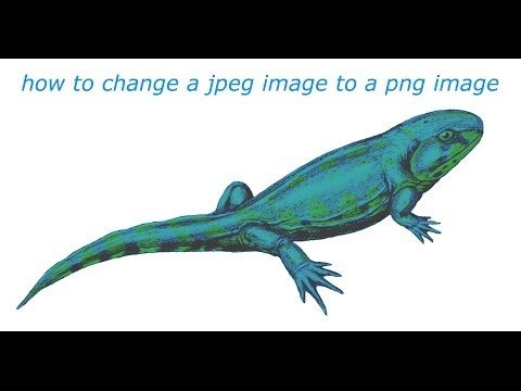 how to change a jpeg image into a png image