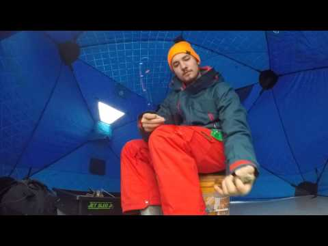 Michigan Ice Fishing for Bluegill  December 27th 2016