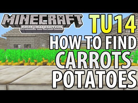 Minecraft (Xbox 360/PS3) - TU14 UPDATE! - HOW TO FIND CARROTS & POTATOES - TUTORIAL (Guide)
