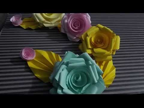 how to make paper roses at home easiy step step Real Roses Decaration DIY 2015
