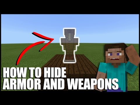 How To Hide Armor And Weapons In Minecraft (No commands/Mods/Ender Chest)