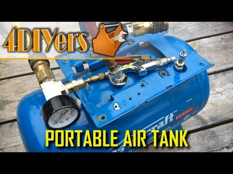 How to Make a Portable Air Tank from a Broken Air Compressor