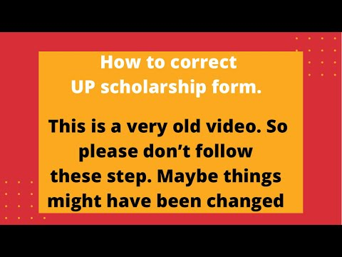 HOW TO CORRECTION UP SCHOLARSHIP FORM AFTER FINAL SUBMIT ?