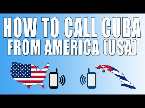 How To Call Cuba From America (USA)