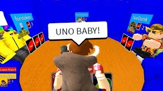 Playing Uno Inside Of Roblox.. *youtuber Edition*