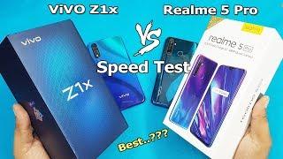 ViVO Z1x vs Realme 5 Pro Speed Test Comparison    Antutu Benchmark Scores   Rs. 16990 vs Rs.13999