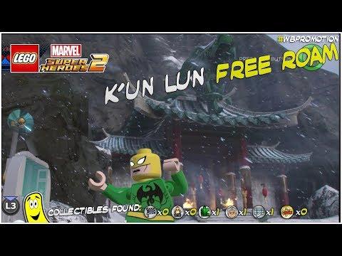 Lego Marvel Superheroes 2: K'un Lun FREE ROAM (All Collectibles) - HTG