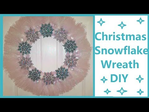 Christmas Wreath DIY |Winter Wonderland Snowflake Wreath