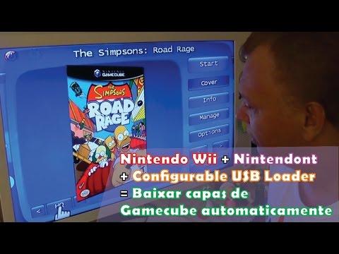 Nintendo Wii: Nintendont + Configurable USB Loader - Baixar capas de Gamecube automaticamente.