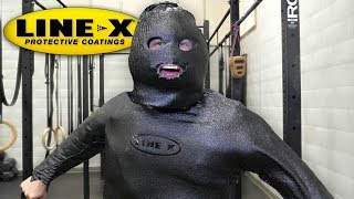 I SPRAYED MY ENTIRE BODY WITH LINE-X!! (LINE-X EXPERIMENT) As Seen On TV Test!