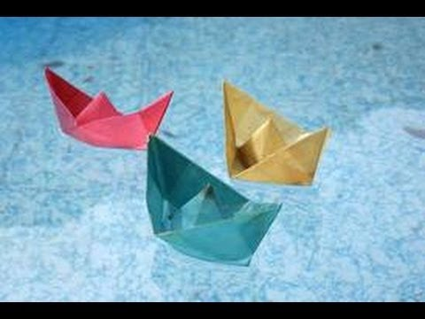How TO Make Origami Paper BOAT!!!-FLOATS ON WATER!!!