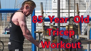 How A 85 Year Old Works His Triceps - Jim Arrington