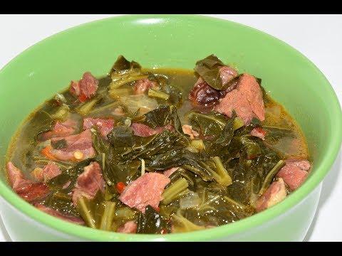 Collard Greens Recipe - Collard Greens With Ham Hocks