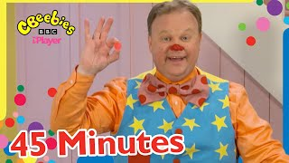Mr Tumble's New Bouncy Ball and more!   45+ Minutes Compilation   CBeebies
