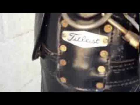 Cleaning a Titleist golf bag ready to list on eBay