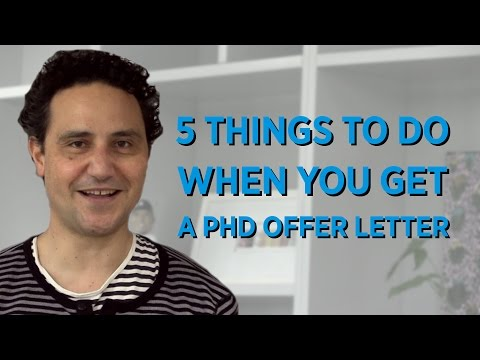 5 Things to do when you get a PhD Offer Letter