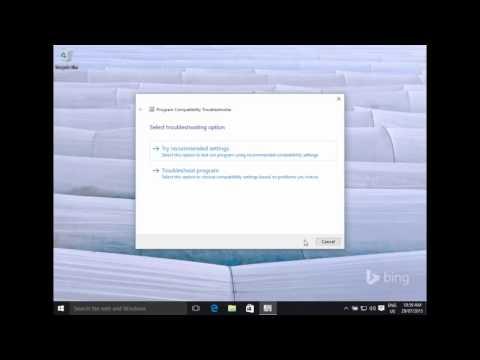 Compatability Mode in Windows 10