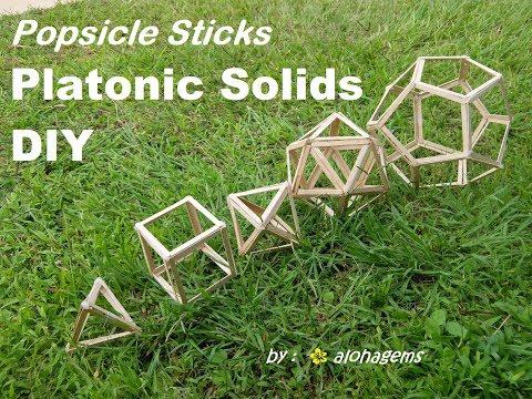 DYI Platonic Solids Popsicle Sticks