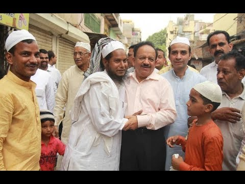 Dr Harsh Vardhan joins Eid celebrations at various places