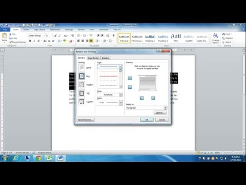 Apply Border on Text and Change Style, Color and Width in MS Word