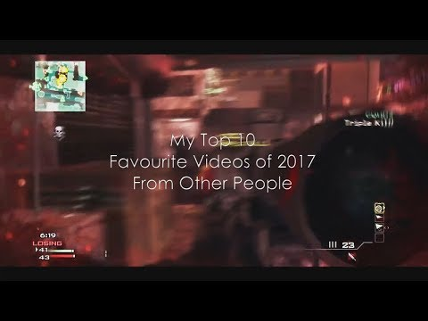 My Top 10 Favourite Videos of 2017 From Other People | @cohhdz